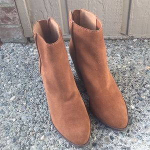 BP Nordstrom suede leather tan boots 9